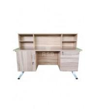 โต๊ะทำงาน ขาเหล็กกล่อง พ่นสี มีบังหน้า ขนาด 60 x 150 สูง 120 cm  รหัส 3268