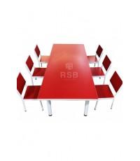 ชุดโต๊ะอนุบาลกลุ่ม ขากลม ขนาด 120 x 60 x  60 cm. รหัส 3342