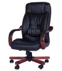 เก้าอี้ผู้บริหาร แขนไม้หุ้มเบาะ ขาไม้ รุ่นขายดี รหัส 3369