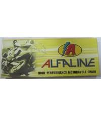 โซ่มอเตอร์ไซด์ 428 สีสแตนเลส ALFALINE