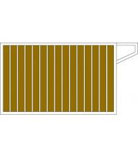 ประตูไม้ขอบสเตนเลส No.1 (Stainless Gate with Shera wood No.1)