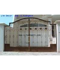 ประตูเหล็กดัดอิตาลี (Wrought Iron Steel Gate)