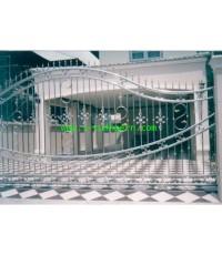 ประตูสแตนเลสบานเลื่อน  Sliding Stainless Steel Gate LD-A183