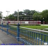 รั้วสเตนเลส-เหล็กหล่อ  LD-A027  Stainless Steel Fence @ Lumpini Park