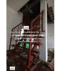 LD-B316 บันไดวนเหลี่ยมเหล็ก Metal Steel Square Staircase  @ Ladprao 87 Section 23