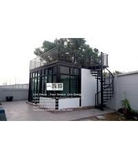 LD-B712 บันไดวนเหล็กหมู่บ้านโมดิวิลล่า บางนา Metal Spiral Staircase/Railing @ Modi Villa Bangna