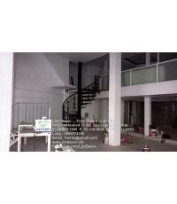 LD-B923 บันไดวนเหล็ก+ราวบันไดเหล็ก Metal Spiral Staircase/Railing@มิลานเวดดิ้งสตูดิโอ ถ.เพชรบุรี