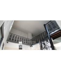LD–B1272 บันไดวนอัลลอย พร้อมราวบันไดอัลลอย โครงหลังคา กรุงเทพฯ Alloy Steel Winder Railing I Staircas