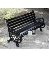 LD-E06 โซฟาร์อัลลอย-ไม้ ม้านั่งอัลลอยไม้ (Alloy Steel Bench with Wood)