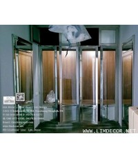 LD–A841 ประตูกระจกกรอบสเตนเลส Glass Gate with Stainless Frame