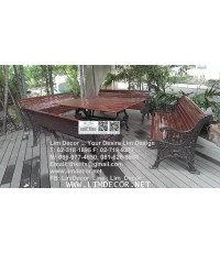 LD-E788 โซฟาร์ม้านั่งสนามอัลลอยพิเศษ Alloy Steel Bench or Sofa Garden Furniture