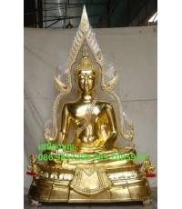 พระพุทธชินราชโลหะทองเหลือง ปิดทองแท้ ขนาดหน้าตัก50นิ้ว ฐานสูง พิมพ์ อ.