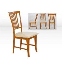 เก้าอี้ไม้สักสีเนื้อไม้บเาะนั้งฟองนำ้
