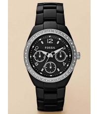 Pre-order ขายนาฬิกาข้อมือหญิง Fossil Ceramic CE1043 เซรามิค สีดำหน้า Chronograph มีกล่องใบรับประกันจ