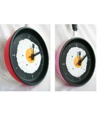 !!!ซื้อเป็นคู่ถูกกว่า!!! นาฬิกาแขวนรูปกะทะไข่ดาว - สีแดง + สีชมพู