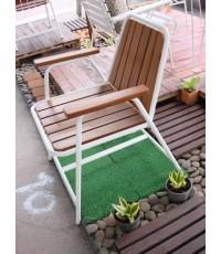 รหัสสั่งซื้อ 1026 :  เก้าอี้เหล็กกลมไม้ระแนงหลังพิงสั้น