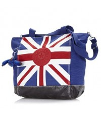Kipling Union Jack Tote Bag with Adjustable  Detachable Strap