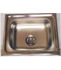 ซิ้งค์ล้างจานแบบฝังเคาน์เตอร์ (อ่างล้างจาน) สแตนเลส แบบหลุมเดียว