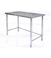 โต๊ะเตรียมอาหารสแตนเลส SUS304 ขนาด 90 ซม. ขาปรับระดับได้ ยี่ห้อคิทโค่