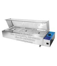 ตู้โชว์อุ่นอาหาร พร้อมถาดอุ่นอาหาร 3 ถาด ยี่ห้อนาโนเทค รุ่น NT-HBM-23-1
