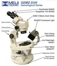 MEIJI TECHNO GEMZ-5-SVH Gem Microscope with Swivel Base กล้องจุลทรรศน์ กล้องขยาย กล้องไมโครสโครป.