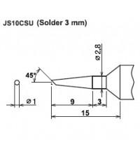 Cera cote samurai js10csu solder 3 mm solder tip ปลายหัวแร้งซามูไร