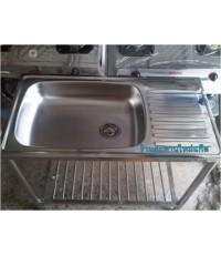 ซิ้งค์ล้างจานพร้อมขาตั้งสแตนเลส ตราเพชร รุ่น LSS-1096