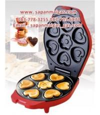 เครื่องทำขนมไข่พิมพ์ลายหัวใจ+ดอกไม้ 7 ชิ้น