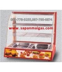 ตู้อุ่นอาหาร 2 ชั้น สีแดง ขนาด 60 ซม