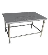 โต๊ะสแตนเลสขากลม 150ซม.