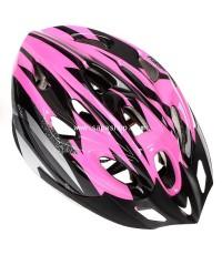 จำหน่าย หมวก สำหรับ ขับขี่จักรยาน สีชมพูสลับดำ ราคาประหยัด (พรีออเดอร์)