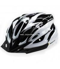 จำหน่าย หมวก สำหรับ ขับขี่จักรยาน สีดำสลับขาว ราคาประหยัด (พรีออเดอร์)