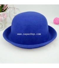จำหน่าย หมวก Bowler Derby สไตล์น่ารัก สำหรับ Women สีน้ำเงิน ราคาประหยัด (พรีออเดอร์)
