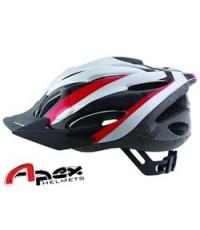 จำหน่าย หมวก Apex Helmet ลายสุดเท่ สีแดง/ขาว สำหรับ ปั่นจักรยาน ราคาประหยัด (พรีออเดอร์)