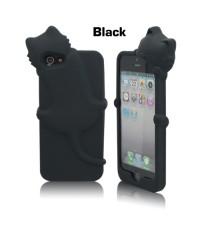 จำหน่าย ใหม่เคส Silicone Gel 3D Cat สีดำ สำหรับ iPhone5 ราคาประหยัด (พรีออเดอร์)