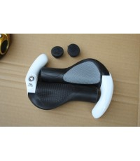 ขาย ยางล๊อก ด้ามจับ grip ergonomic ล็อคจักรยานอลูมิเนียม สีขาว (พร้อมส่ง)