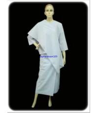 เสื้อปฏิบัติธรรม + ผ้านุ่ง / ผ้าถุงเอวยาง + สไบ ของผู้หญิง   ยี่ห้อรัตนาภรณ์