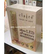 แคลร์  : เทียนพรรษาใช้ถ่าน  เทียนพรรษา LED  เทียนพรรษาเสียบปลั๊ก ( เดิมคือ ริน )