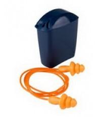 ปลั๊กอุดหูลดเสียง 3M-1271 สาย PVC บรรจุกล่องสีน้ำเงินคาดเอว