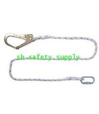 เชือกเซฟตี้ แบบสายถัก 1 เส้น 1 ตะขอใหญ่  Yamada R718 (Rope Lanyard with Big Hook)