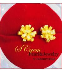 ต่างหูทอง,ต่างหูทองคำแท้รูปดอกไม้