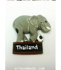 ที่ติดตู้เย็น ช้างน้อย 7 ช้างเตะฟุตบอล