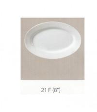 21 F  จานเปลรีมีขอบ 8 นิ้ว Flowerware