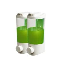 เครื่องกดสบู่เหลวคู่ 400 ml.x 2 Manual Double Soap Dispenser 400x2 ml.