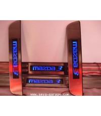 ชายบันใดโลโก้ มีไฟ DOOR GARD สำหรับรถ MAZDA 3 !