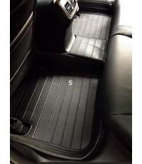 พรมปูพื้นรถยนต์ 5D แท้ เข้ารูป 100 สำหรับ Honda Accord G9 สีดำ