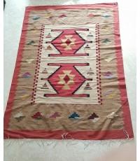 Wool Handmade Carpet : Pink