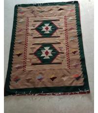 Wool Handmade Carpet : Green