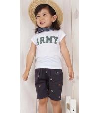 เสื้อยืด ARMY สีขาว ใส่ได้ทั้งชายและหญิง (Korea) size. 9**สินค้าหมด**