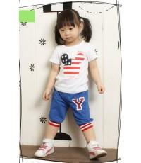 กางเกงสีน้ำเงินลายตัว Y   (korea)  size.11**สินค้าหมด**